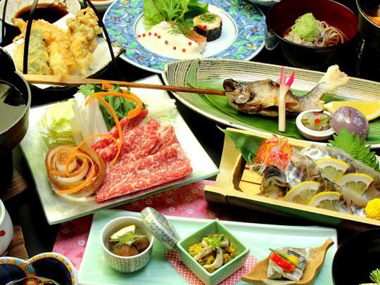 Nicchu Onsen -Yumotoya- cuisine